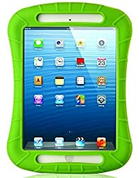iXCC ® Shockproof Silicone Case Cover for iPad Mini, Mini 2, Mini 3, Extreme Heavy Duty [Drop Proof, Kids Proof, Shock Proof, Anti slip] High Quality Rubber Soft Gel Material Offers Robust Protection for Kids, Baby, Children, Boys and Girls [Green]