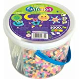 Perler Activity Glow Bucket - 5000 Beads+4 Pegs