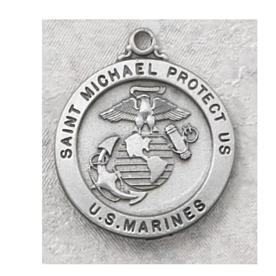 Hand Engraved New England Pewter Medal Military Armed Forces Us Marine Medal with 24