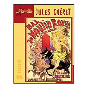 Pomegranate Jules Cheret - Moulin Rouge 1000 Piece Jigsaw Puzzle by Pomegranate