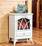 Compact Electric Stove, in Ivory