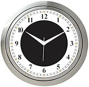 Buy It2m 10 Inch Round Wall Clock For Home Kitchen Living Room Bedroom With Glass Color