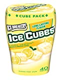Ice Breakers Ice Cubes Sugar Free Gum, Cool Lemon, 40-Piece Container (4 Pack)