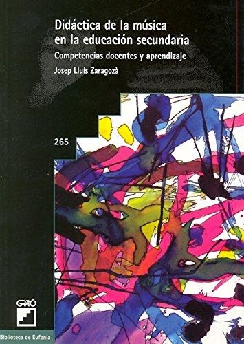 DIDACTICA DE LA MUSICA EN LA EDUCACION SECUNDARIA