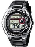 Casio - WV-200E-1AVEF - Montre Radio Piloté - Acier et Résine - Quartz Digitale - Multifonctions - Chronographe - Fuseaux Horaires - Alarme - Timer - Bracelet Caoutchouc Noir