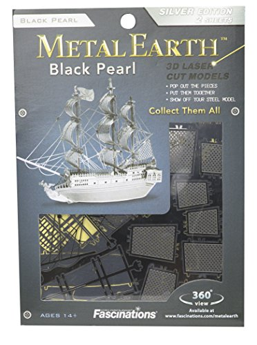 MetalEarth 3D Metal Model - Black Pearl Pirate Ship