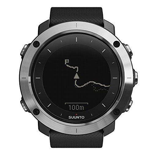 Suunto TRAVERSE SS021843000 Orologio GPS per l'Outdoor, Adatto all'Escursionio e Trekking, Fino a 100 Ore di Durata della Batteria, Resistente all'Acqua, Nero