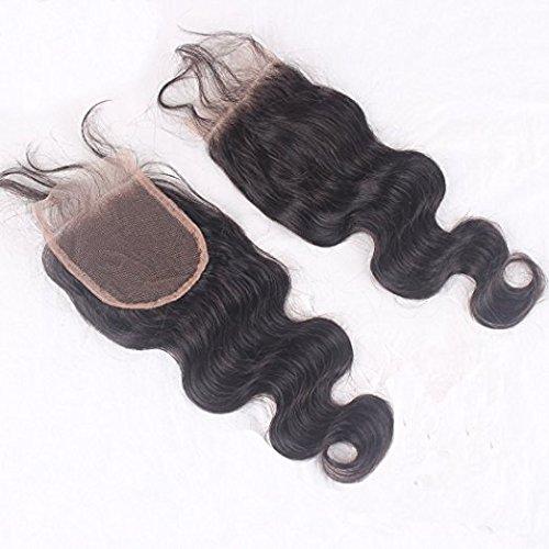 "Sunwell%C2%AE Sunwell Free Part 4*4 Inch Lace Top Closure Body Wave Virgin Human Hair Natural Black 14"""