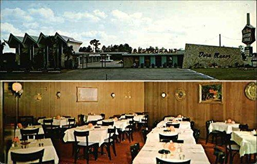 Mt. Dora Motor Lodge Restaurant Mount Dora, Fl Original Vintage Postcard