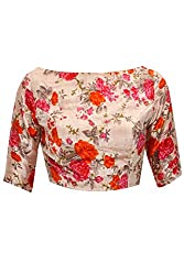 Fabron multicolour printed unstitched blouse for women