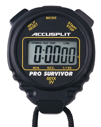 ACCUSPLIT ACCUSPLIT Pro Survivor - A601XBK Stopwatch, Clock, Extra Large Display (Black)