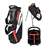 TaylorMade Purelite Stand Bag, Black/White/Red