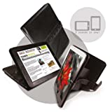 Tuff Luv Bi-Axis Napa Leather Case Cover for iPad -Black