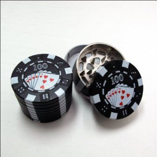 POKER CHIP HERB GRINDER 3PCS ASSORTED COLORS PACK OF 12 (Weed Grinder Poker Chip compare prices)