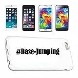 Handyhülle iPhone 7+ Plus Hashtag ... #Base-Jumping ... im Social Network Design Hardcase Schutzhülle Handycover Smart Cover für Apple iPhone ... in Weiß ... Schlank und schön, das ist unser HardCase. Das Case wird mit einem Klick auf deinem Smartphone befestigt