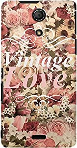 DailyObjects Vintage Love Flowers Case For Sony Xperia ZR
