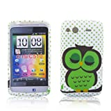 HTC Salsa TPU SILICON CUTE OWL Design protection phone bumper Case bag Etui Bumper thematys®