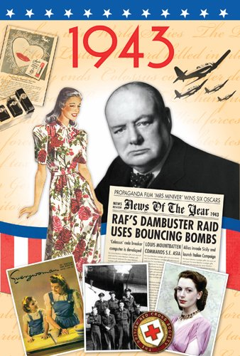 70th Birthday Gifts For Men - 1943 DVD Film and 1943 Year Greeting Card