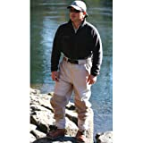 Caddis Men's Attractive 2-Tone Taupe Deluxe Breathable Stocking Foot Waist-High Wader, X-Large