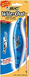 BIC White-Out Exact Liner Correction Tape Pen, Non-Refillable, 1/5 Inch x 236 Inches (WOELP11) Size: Pack of 1, Model: WOELP11, Office Shop