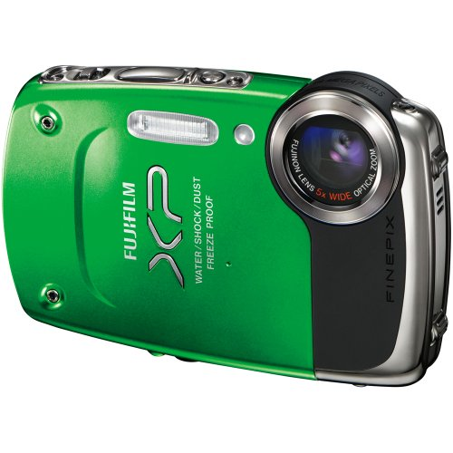 Black Friday Fujifilm FinePix XP20 Green 14 MP Digital Camera with 5x Optical Zoom and 2.7-Inch LCD Deals