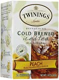 Twinings Peach Cold Brewed Iced Tea, 20 Count Box (Pack of 2)