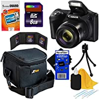 Canon Powershot SX420 IS 20 MP Digital Camera with 42x Zoom, HD Video & Built-In Wi-Fi (International Version) + NB-11L Battery + 8pc 16GB Accessory Kit w/ HeroFiber Gentle Cleaning Cloth