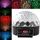 RioRand(TM) S9D LED RGB Disco DJ Party Stage Lighting Digital Crystal Ball Effect Light
