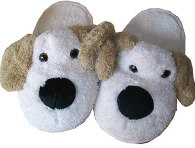 sale retailer c02eb 6a52b Deichmann Online Shop: Lustige Plüsch Hausschuhe Hunde ...
