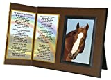 Rainbow Bridge Poem for Horses Sympathy Picture Frame Gift and Memorial Keepsake, Includes custom photo editing option