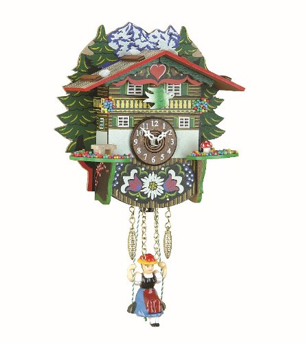 Kuckulino Black Forest Clock Swiss House with quartz movement and cuckoo chime, incl. batterie TU 2024 SQ