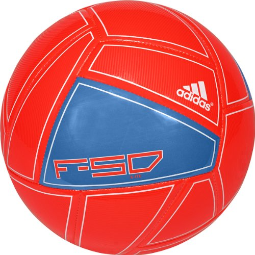 Adidas F50 X-ite Soccer Ball (Infrared/Bright Blue/White, 5)