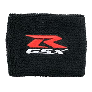 Suzuki GSXR Brake Reservoir Sock Cover Available in Black, Blue, Red and White, Fits GSXR, GSX-R, 600, 750, 1000, 1300, Hayabusa, Katana, TL 1000, SV 650