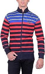 RGT Men's Fleece Regular Fit Sweatshirts (RGT6032RED-XL)