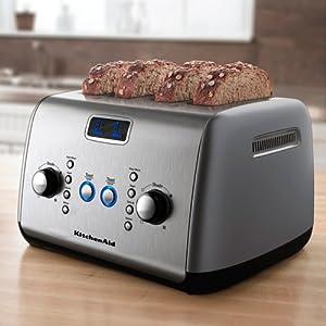 kitchenaid 4 slice toaster cocoa silver. Black Bedroom Furniture Sets. Home Design Ideas