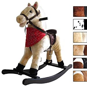 Infantastic® SKPD02haflinger	Rocking Horse w/ Sound Effects Pony Haflinger Classic Colours Toy Ride for Child under 3yr