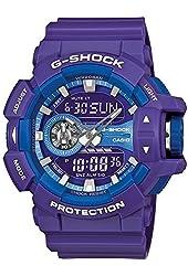 Casio G-Shock Purple-Tone Dial Resin Quartz Men's Watch GA400A-6A