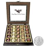 Chocholik - 25Pc Yummy Belgium Chocolates With 5gm Pure Silver Coin - Diwali Gifts