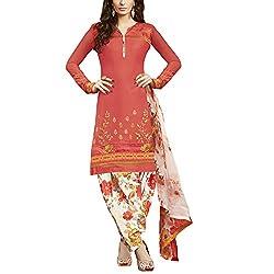 Applecreation Peach | cotton dress materials for women low price PARTY WEAR new collections Salwar Suit Kameez