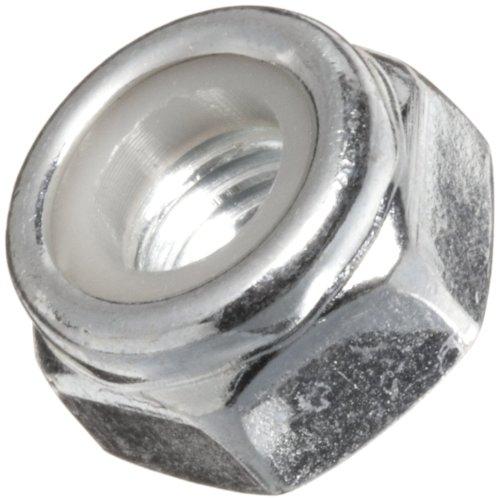 Steel Lock Nut, Plain Finish, Gray (Pack of 100)
