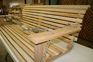 Cypress 5 Handmade Porch Swing from Southern Wood Products