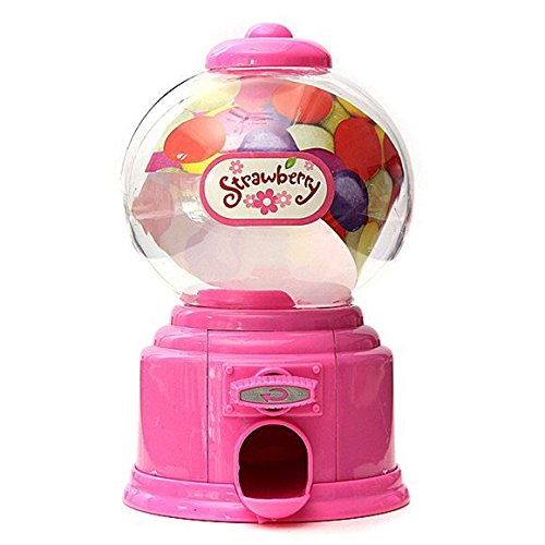 Af Kitchen : Hot Sale Mini Cute Gumball Vending Candy Machine Dispenser Coin Saving Bank Money Box Decorative Gift for Kids - Pink (Money Vending Machine compare prices)