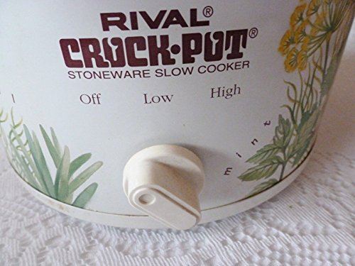 Vintage Rival Crock-Pot Slow Cooker - Herbs and Spices Pattern (Vintage Slow Cooker compare prices)