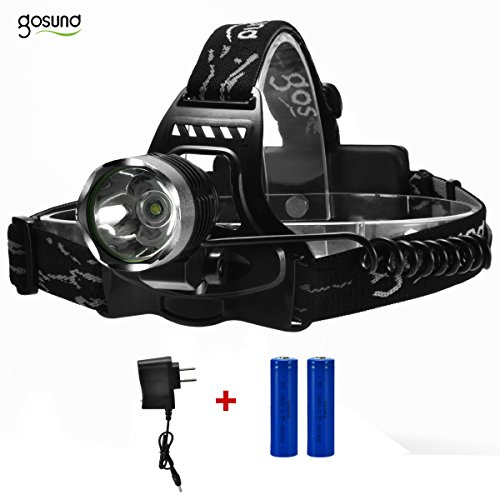 Gosund 1200LM K11 Waterproof Versatile Headlamp with 3Modes 2*18650 Rechargeable Battery Adjustable Spot for Camping Running & Hiking
