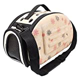 Des Ordinateurs Best Deals - OpetHome Lightweight Porous Pet Carrier Outdoor Travel Portable Tote Bags Shoulder Bag White S