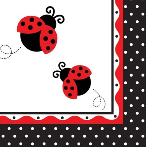 Creative Converting Ladybug Fancy Luncheon Napkins, 16-Count front-510424