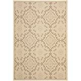"Safavieh Courtyard Collection CYS6204-219 Cream and Light Chocolate Area Rug, 6 feet 7 inches by 9 feet 6 inches (6'7"" x 9'6"" )"
