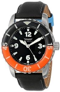 Skywatch Unisex CCI006 Three-Hand Analog Display Swiss Quartz Black Watch