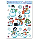 Beistle Company - Snowman/Snowflake Window Clings