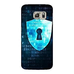 Special Digital Secure Print Blue Back Case Cover for Samsung Galaxy S6 Edge Plus